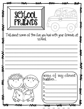 End of Year Memory Book - Second Grade