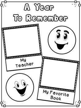 End of Year Emoji Memory Book - Second Grade