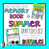 End of Year Memory Book + Summer Countdown Craftivities BUNDLE