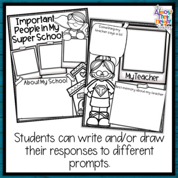 End of Year Memory Book Superhero - 1st Grade writing and craft activity