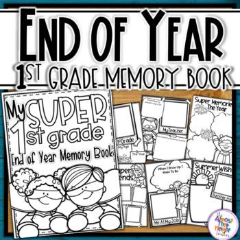 End of Year Memory Book Superhero - 1st Grade (+UK spellin