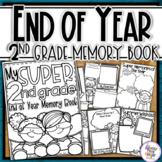 End of Year Memory Book Superhero - 2nd Grade writing and craft activtiy