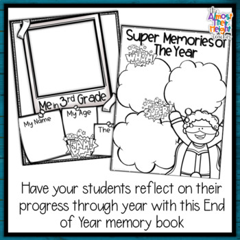 End of Year Memory Book Superhero - 3rd Grade writing and craft activity