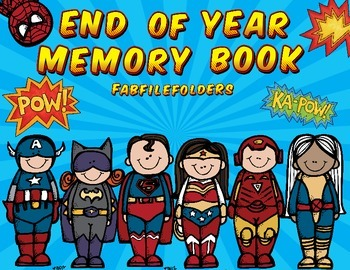 End of Year Memory Book-Superheroes Edition