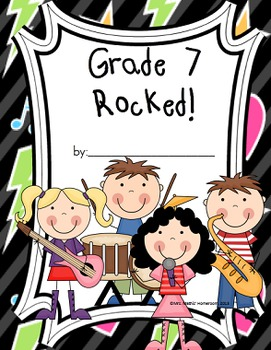 End of Year Memory Book - This Year Rocked - Grade K to 8