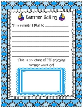 End of Year Memory Book - Where Learning Set Sail