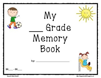 End of Year Memory Book Writing Project