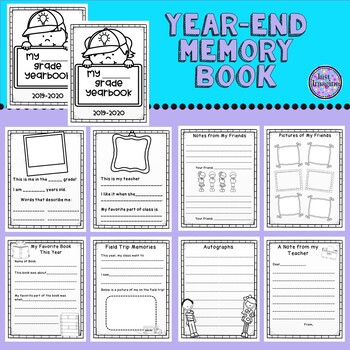 End of Year Memory Book - Yearbook - Colorable