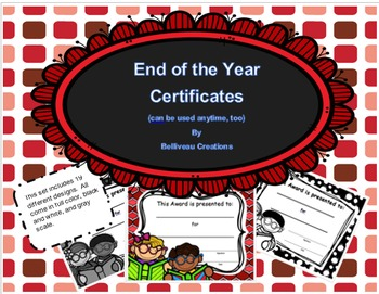 End of Year Memory Book and Certificates