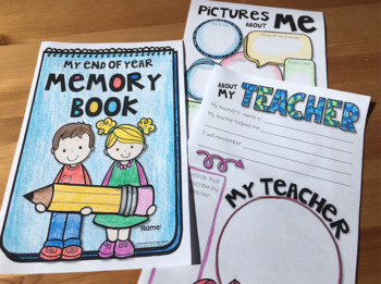End of Year Memory Book and Editable Certificates BUNDLE
