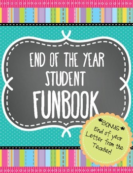 End of Year Memory Book and Letter from the Teacher