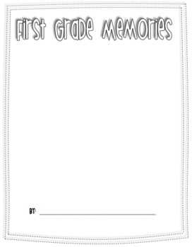 End of Year Memory Book {elementary}