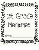 End of Year Memory Book for 1st Grade