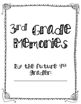 End of Year Memory Book for Elementary Printable!