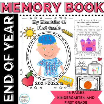 End of Year Memory Book for Kindergarten