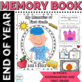 End of Year Memory Book for Kindergarten and 1st Grade