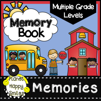 End of Year Memory Book for Multiple Grade Levels