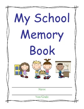 End of Year Memory Book for Students