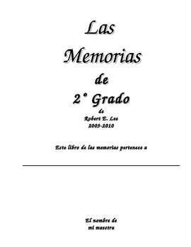 End of Year Memory Book in English and Spanish (Editable)