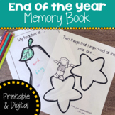 End of Year Memory Book with Printable and Google Slides Resource