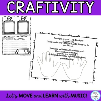 End of Year Memory Book with Songs, Craftivity, Third Grade