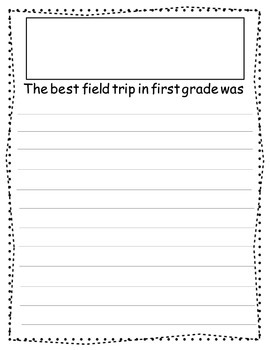End of Year 1st Grade Memories:Informational Text & Ready to Illustrate
