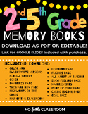 End of Year Memory Books 2nd, 3rd, 4th & 5th Grades {Edita
