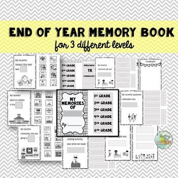 End of Year Memory Books