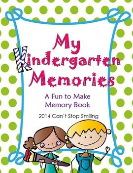 End of Year Memory Books Kindergarten