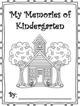 End of Year Memory Books - Prek - 2nd grade