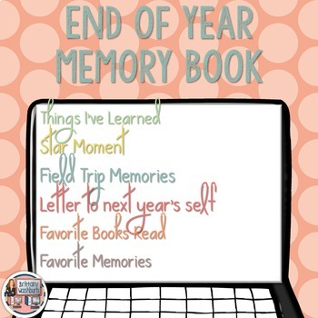 End of Year Memory E-book
