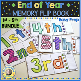 End of Year Memory Flip Book Activity 1st - 5th BUNDLE