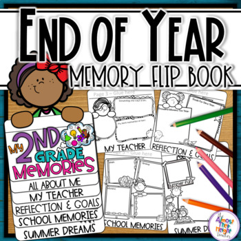 End of Year Memory Flip Book - 2nd Grade (+UK spelling & '
