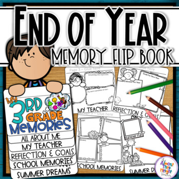 End of Year Memory Flip Book - 3rd Grade (+ UK spelling &