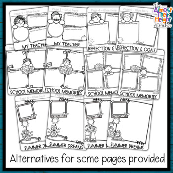 End of Year Memory Flip Book - 4th Grade - a writing and craft activity