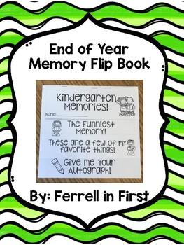 End of Year Memory Flip Book Freebie!