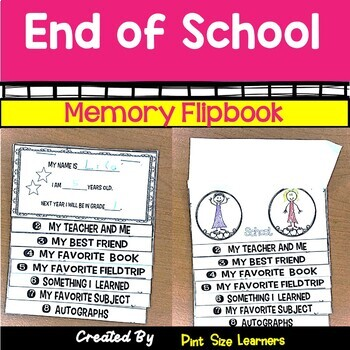 End of the Year Memory Flipbook | End of Year Activities for Distance Learning