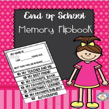 End of Year Memory Flipbook ~ Free