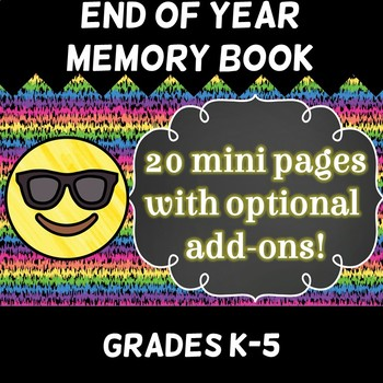 End of Year Reflection Memory Mini-Book for last few weeks - 20 mini pages!!!