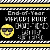 End of Year Mini Memory Reflection Book // Emoji -- 16 mini pages! no prep
