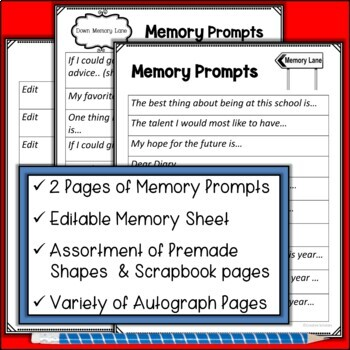 End of Year Memory Scrapbook and More