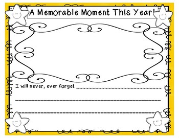 End of Year Memory Scrapbook:  It was an Amazing Year!