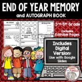 End of Year Memory Book - 3rd-5th - Print and Digital for Distance Learning