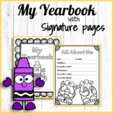 End of Year Memory and Signature Book