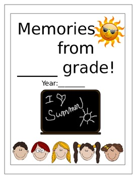 End of Year MemoryBook- for kids!