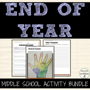 End of Year Middle School Activity Bundle that ROCKS!  6+ Activities!