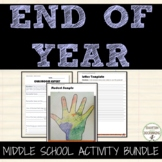 End of Year Middle School Activity Bundle that ROCKS!  6+