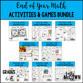 End of Year Middle School Math Activities & Games BUNDLE
