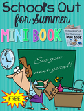 FREE! School's Out for Summer Mini Book (foldable end-of-y