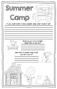 End of Year Mini Poster Camping Themed